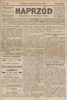 Naprzód : organ polskiej partyi socyalno-demokratycznej. 1901, nr148