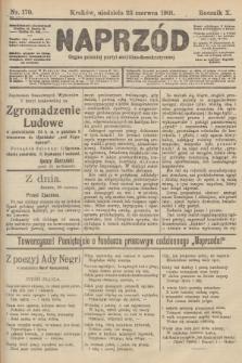 Naprzód : organ polskiej partyi socyalno-demokratycznej. 1901, nr170
