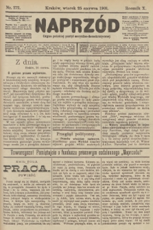 Naprzód : organ polskiej partyi socyalno-demokratycznej. 1901, nr172