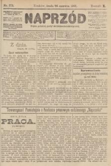 Naprzód : organ polskiej partyi socyalno-demokratycznej. 1901, nr173 [po konfiskacie nakład drugi!]