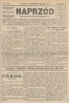 Naprzód : organ polskiej partyi socyalno-demokratycznej. 1901, nr174