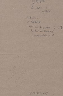 Ms. Berol. Varnhagen Sammlung 57, Euler