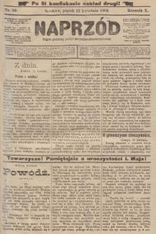 Naprzód : organ polskiej partyi socyalno-demokratycznej. 1901, nr 99 (po konfiskacie nakład drugi!)