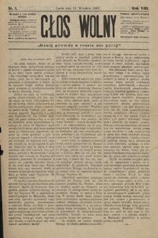 Głos Wolny : tygodnik polityczny, społeczny iliteracki : organ niezawisły. 1882, nr3