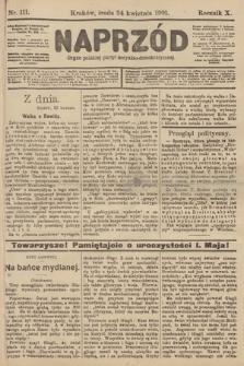 Naprzód : organ polskiej partyi socyalno-demokratycznej. 1901, nr111 [nakład pierwszy skonfiskowany]