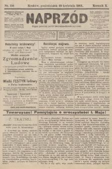 Naprzód : organ polskiej partyi socyalno-demokratycznej. 1901, nr116 [nakład pierwszy skonfiskowany]