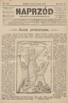 Naprzód : organ polskiej partyi socyalno-demokratycznej. 1901, nr118 [nakład pierwszy skonfiskowany]