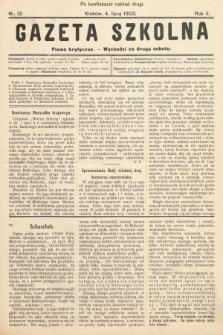 Gazeta Szkolna : pismo krytyczne. 1903, nr13 (po konfiskacie nakład drugi)