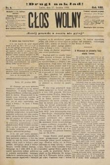 Głos Wolny : tygodnik polityczny, społeczny iliteracki : organ niezawisły. 1882, nr6