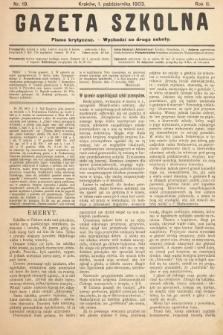 Gazeta Szkolna : pismo krytyczne. 1903, nr19