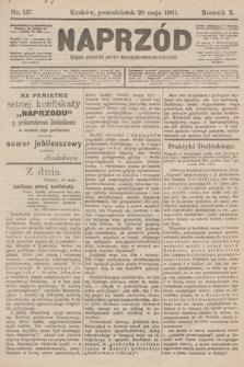 Naprzód : organ polskiej partyi socyalno-demokratycznej. 1901, nr137 [nakład pierwszy skonfiskowany]