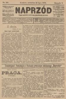 Naprzód : organ polskiej partyi socyalno-demokratycznej. 1901, nr201