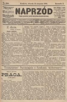 Naprzód : organ polskiej partyi socyalno-demokratycznej. 1901, nr220