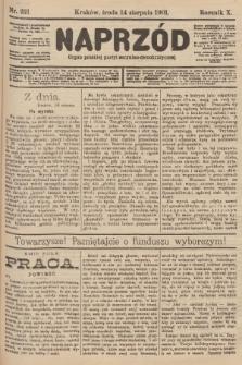 Naprzód : organ polskiej partyi socyalno-demokratycznej. 1901, nr221