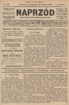 Naprzód : organ polskiej partyi socyalno-demokratycznej. 1901, nr233