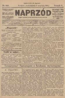 Naprzód : organ polskiej partyi socyalno-demokratycznej. 1901, nr240