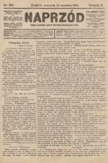 Naprzód : organ polskiej partyi socyalno-demokratycznej. 1901, nr250