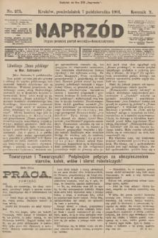 Naprzód : organ polskiej partyi socyalno-demokratycznej. 1901, nr275