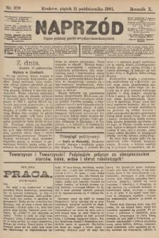 Naprzód : organ polskiej partyi socyalno-demokratycznej. 1901, nr279