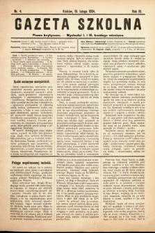 Gazeta Szkolna : pismo krytyczne. 1904, nr4