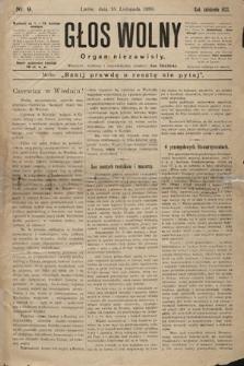Głos Wolny : tygodnik polityczny, społeczny iliteracki : organ niezawisły. 1890, nr9