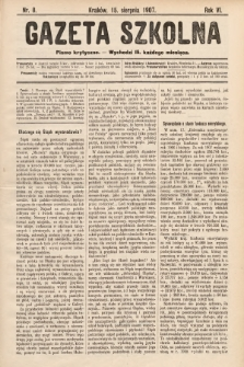 Gazeta Szkolna : pismo krytyczne. 1907, nr8