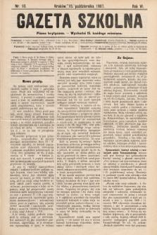 Gazeta Szkolna : pismo krytyczne. 1907, nr10