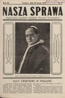 Nasza Sprawa : ilustrowany tygodnik katolicki Diecezji Tarnowskiej. 1935, nr6