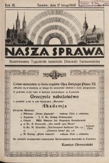 Nasza Sprawa : ilustrowany tygodnik katolicki Diecezji Tarnowskiej. 1935, nr7