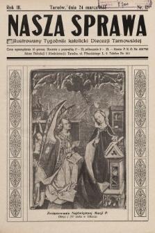 Nasza Sprawa : ilustrowany tygodnik katolicki Diecezji Tarnowskiej. 1935, nr12