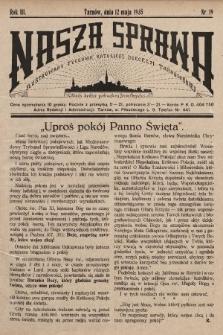 Nasza Sprawa : ilustrowany tygodnik katolicki Diecezji Tarnowskiej. 1935, nr19