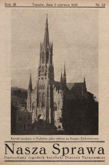 Nasza Sprawa : ilustrowany tygodnik katolicki Diecezji Tarnowskiej. 1935, nr23