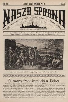 Nasza Sprawa : ilustrowany tygodnik katolicki Diecezji Tarnowskiej. 1935, nr36