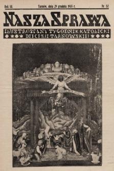 Nasza Sprawa : ilustrowany tygodnik katolicki Diecezji Tarnowskiej. 1935, nr52