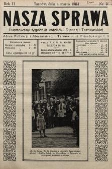 Nasza Sprawa : ilustrowany tygodnik katolicki Diecezji Tarnowskiej. 1934, nr9
