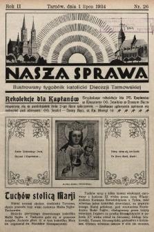 Nasza Sprawa : ilustrowany tygodnik katolicki Diecezji Tarnowskiej. 1934, nr26