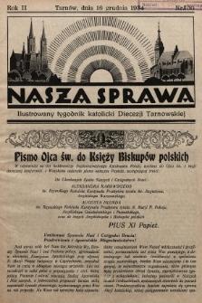 Nasza Sprawa : ilustrowany tygodnik katolicki Diecezji Tarnowskiej. 1934, nr50