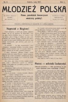 """Młodzież Polska : pismo """"katolickich Stowarzyszeń młodzieży polskiej"""". 1917, nr 2"""