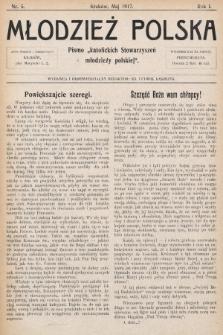 """Młodzież Polska : pismo """"katolickich Stowarzyszeń młodzieży polskiej"""". 1917, nr 5"""