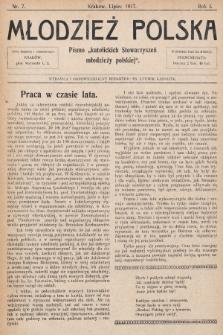 """Młodzież Polska : pismo """"katolickich Stowarzyszeń młodzieży polskiej"""". 1917, nr 7"""