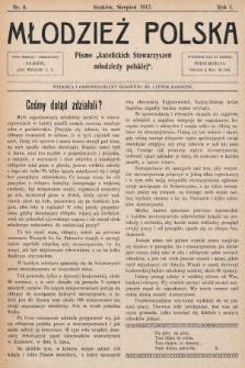 """Młodzież Polska : pismo """"katolickich Stowarzyszeń młodzieży polskiej"""". 1917, nr 8"""