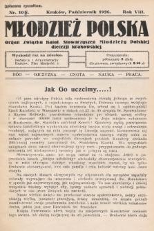 Młodzież Polska : organ Związku Katol. Stowarzyszeń Młodzieży Polskiej diecezji krakowskiej. 1926, nr 10b