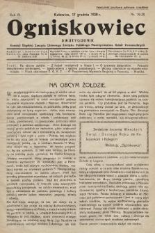 Ogniskowiec : dwutygodnik Komisji Śląskiej Zarządu Głównego Związku Polskiego Nauczycielstwa Szkół Powszechnych. 1928, nr19-20