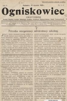 Ogniskowiec : dwutygodnik Komisji Śląskiej Zarządu Głównego Związku Polskiego Nauczycielstwa Szkół Powszechnych. 1929, nr1-2