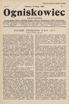 Ogniskowiec : dwutygodnik Komisji Śląskiej Zarządu Głównego Związku Polskiego Nauczycielstwa Szkół Powszechnych. 1929, nr3
