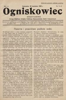 Ogniskowiec : dwutygodnik Okręgu Śląskiego Związku Polskiego Nauczycielstwa Szkół Powszechnych. 1930, nr5-6