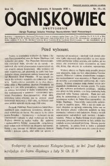 Ogniskowiec : dwutygodnik Okręgu Śląskiego Związku Polskiego Nauczycielstwa Szkół Powszechnych. 1930, nr13-14