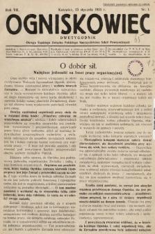 Ogniskowiec : dwutygodnik Okręgu Śląskiego Związku Polskiego Nauczycielstwa Szkół Powszechnych. 1931, nr1