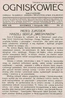 Ogniskowiec : dwutygodnik Okręgu Śląskiego Związku Nauczycielstwa Polskiego. 1932, nr17