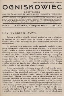 Ogniskowiec : dwutygodnik Okręgu Śląskiego Związku Nauczycielstwa Polskiego. 1934, nr12-13